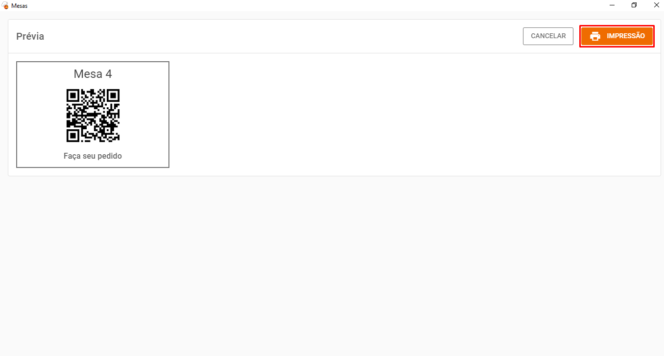 Como gerar QR-Code para Mesas no 2.0